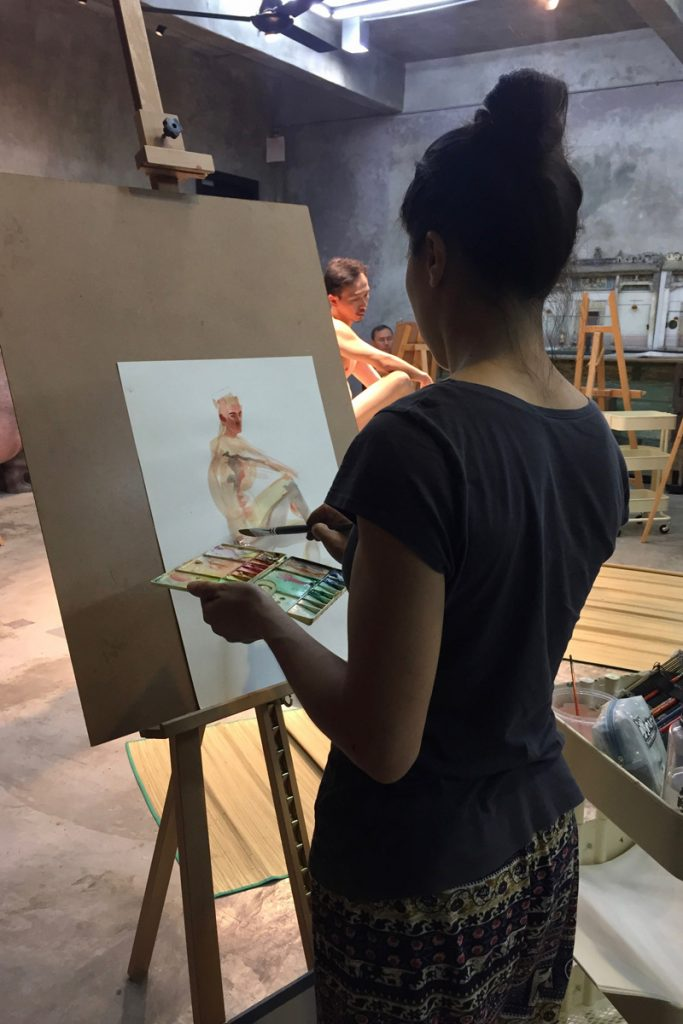 Artists require nude life drawing sessions to study anatomy and practise human movement drawings. It is especially useful to have a real life reference if they are attempting to depict a complex movement.